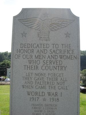Weatherly War Memorial Marker image. Click for full size.