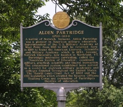 Alden Partridge Marker image. Click for full size.