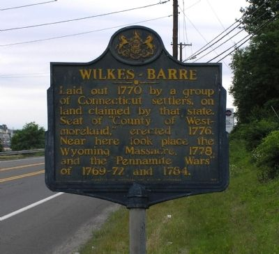 Wilkes-Barre Marker image. Click for full size.