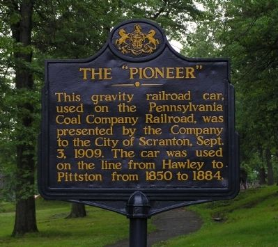 "The ""Pioneer"" Marker image. Click for full size."