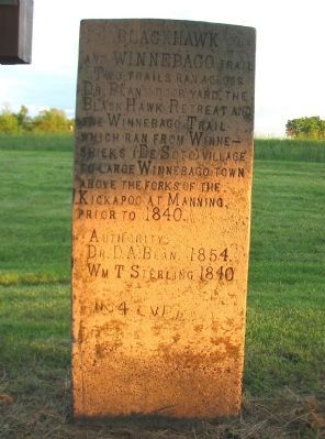 Black Hawk and Winnebago Trail Marker image. Click for full size.
