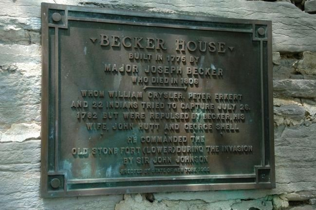 Another Becker Stone House Marker image. Click for full size.