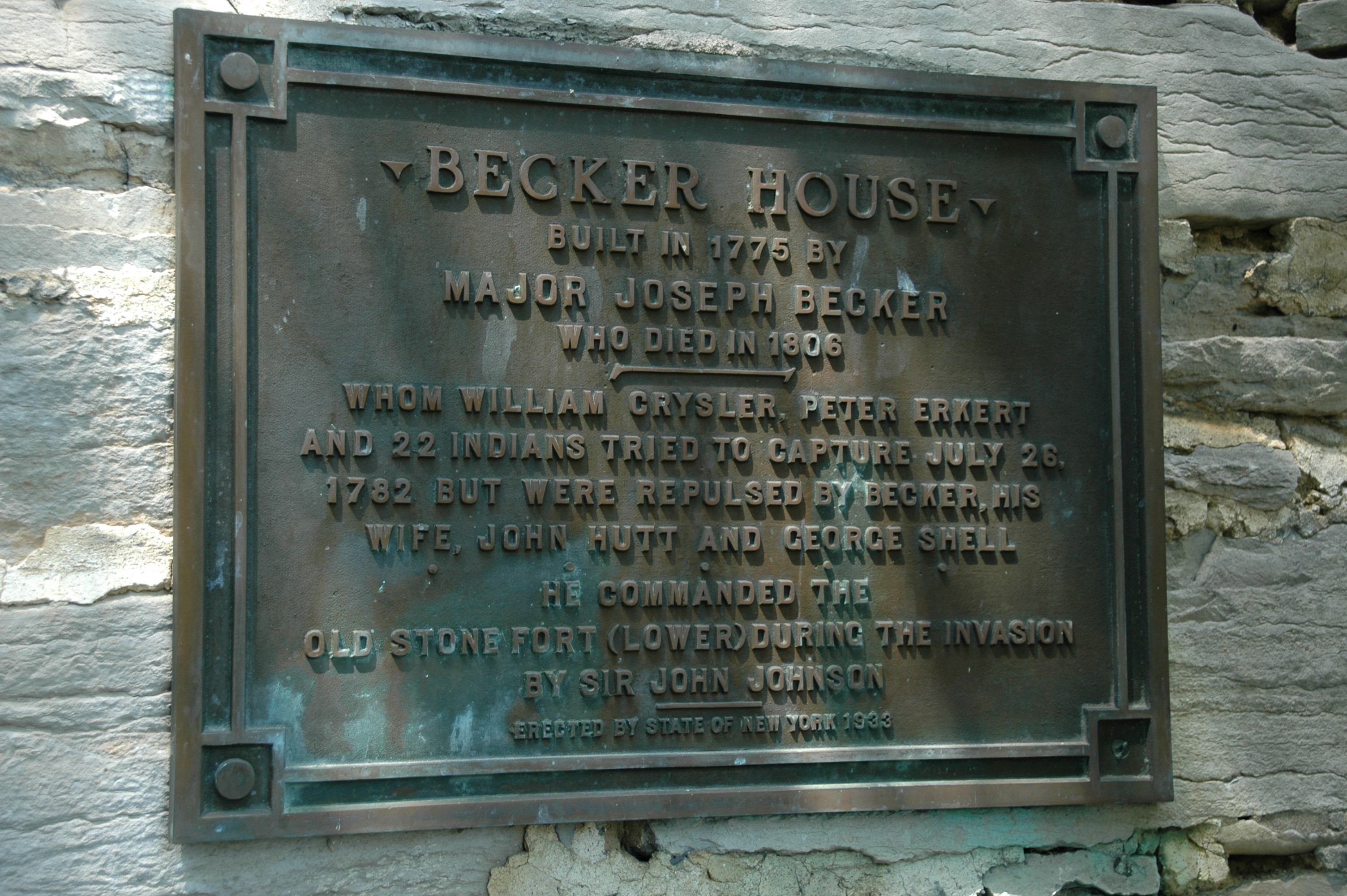 Another Becker Stone House Marker