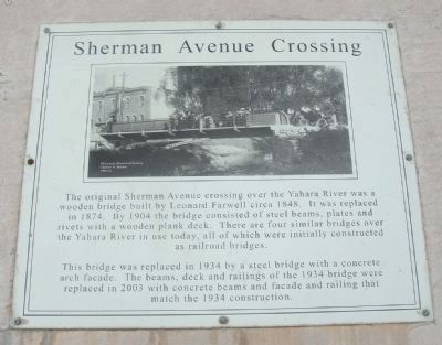 Sherman Avenue Crossing Marker image. Click for full size.