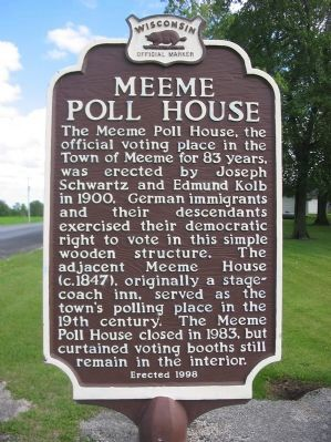 Meeme Poll House Marker image. Click for full size.