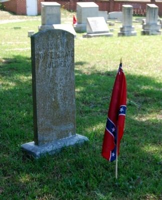 Unknown Confederate Tombstone image. Click for full size.