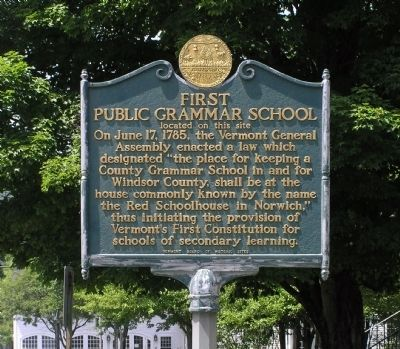 First Public Grammar School Marker image. Click for full size.