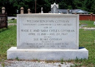 William Benjamin Cothran Tombstone image. Click for full size.