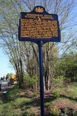 Pennhurst State School & Hospital Marker image. Click for full size.