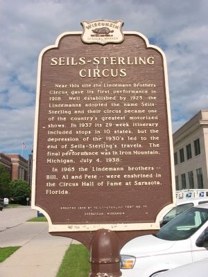 Seils–Sterling Circus Marker image. Click for full size.