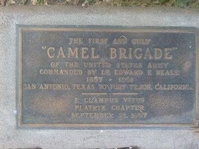 "The first and only ""Camel Brigade"" of the United States Army Marker image. Click for full size."