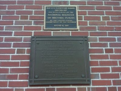 NRHP and Lutz School Plaques image. Click for full size.