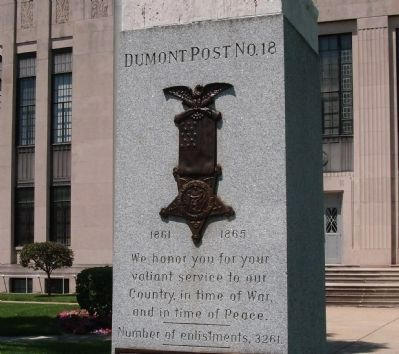 Front Engraved Section - - Civil War Memorial - Shelby County Indiana Marker image. Click for full size.