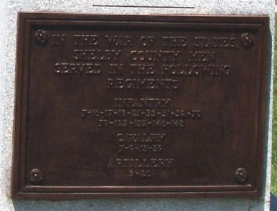 Front Plaque - - Civil War Memorial - Shelby County Indiana Marker image. Click for full size.