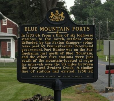 Blue Mountain Forts Marker image. Click for full size.