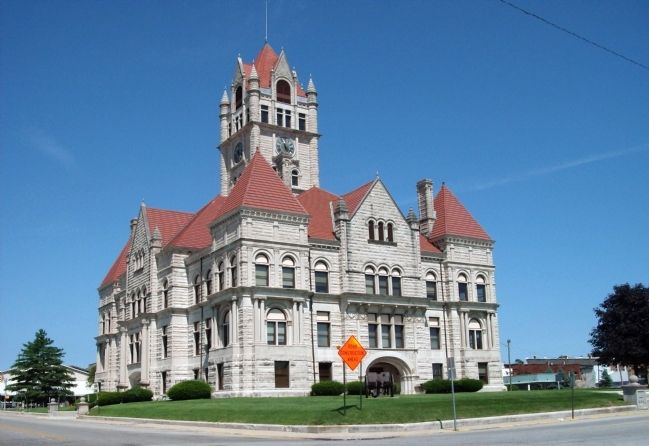 South / East Corner - - Rush County Courthouse image. Click for full size.