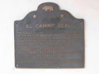 El Camino Real - San Diego Marker image. Click for more information.