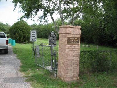 St. Rose Cemetery entrance image. Click for full size.
