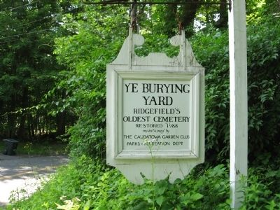 Ye Burying Yard Marker image. Click for full size.