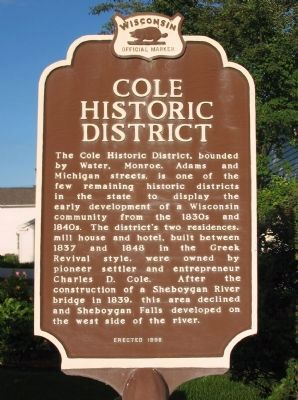 Cole Historic District Marker image. Click for full size.