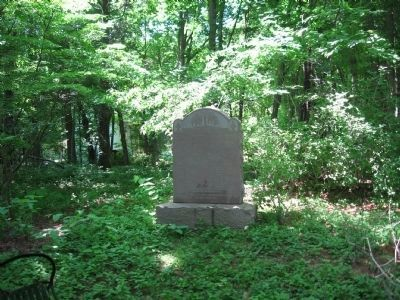 The Stone Monument in Ye Burying Yard image. Click for full size.