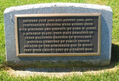 Confederate Burial Memorial image. Click for full size.