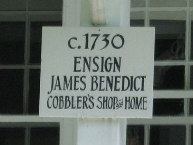 Ensign James Benedict House Marker image. Click for full size.