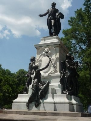 General Lafayette and his Compatriots Memorial image. Click for full size.