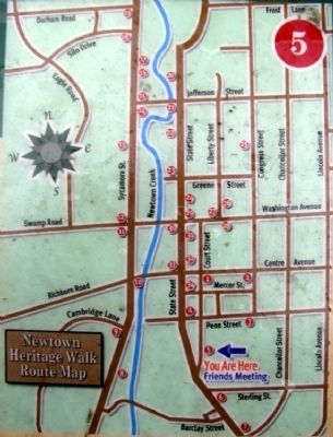 Walking Tour Map on Marker image. Click for full size.