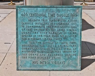 Centennial Time Capsule Plaque image. Click for full size.