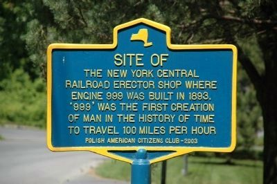 Site of New York Central Railroad Erector Shop Marker image. Click for full size.