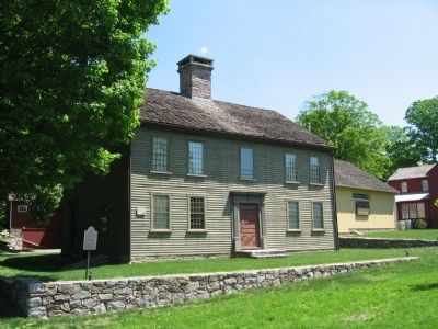 Sloan – Raymond – Fitch House c. 1731, Headquarters of the Wilton Historical Society image. Click for full size.