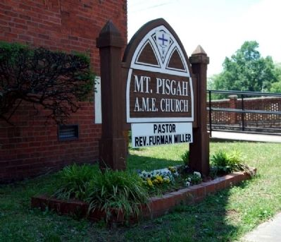 Mount Pisgah A.M.E. Church Sign image. Click for full size.