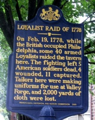 Loyalist Raid of 1778 Marker image. Click for full size.