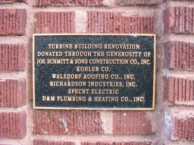 Turbine Building Plaque image. Click for full size.