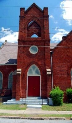 Mount Pisgah A.M.E. Church -<br>South Tower Entrance image. Click for full size.