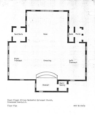 Mount Pisgah A.M.E. Church -<br>Floor Plan image. Click for full size.