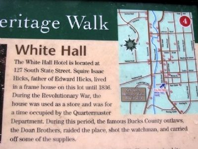 Partial White Hall Marker [needs replaced] image. Click for full size.