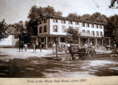 White Hall Photo on Marker image. Click for full size.