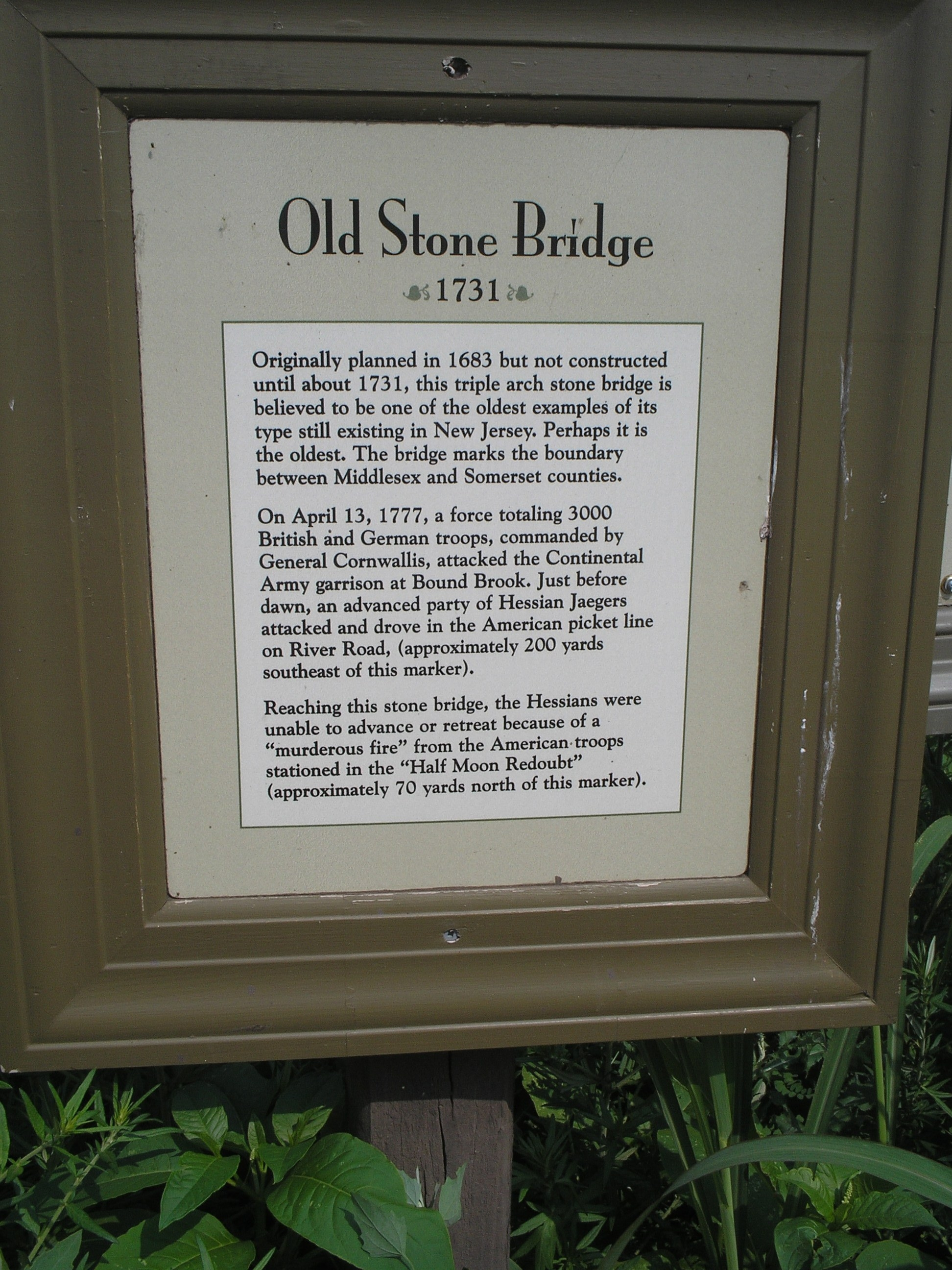 Old Stone Bridge Marker