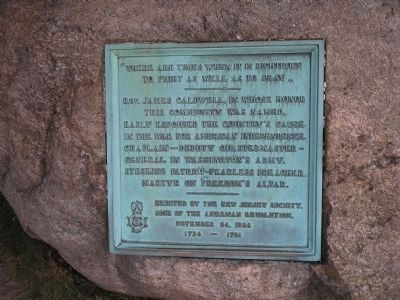 Rev. James Caldwell Marker image. Click for full size.