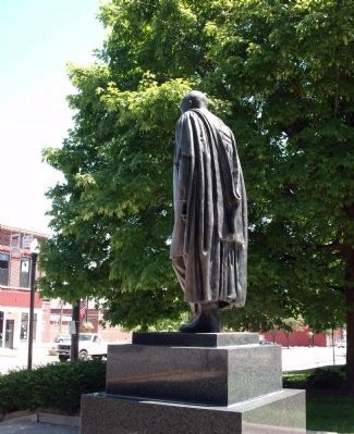 Obverse of Statue - - James Whitcomb Riley image. Click for full size.