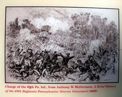 Charge of the 69th Pennsylvania Infantry image. Click for full size.