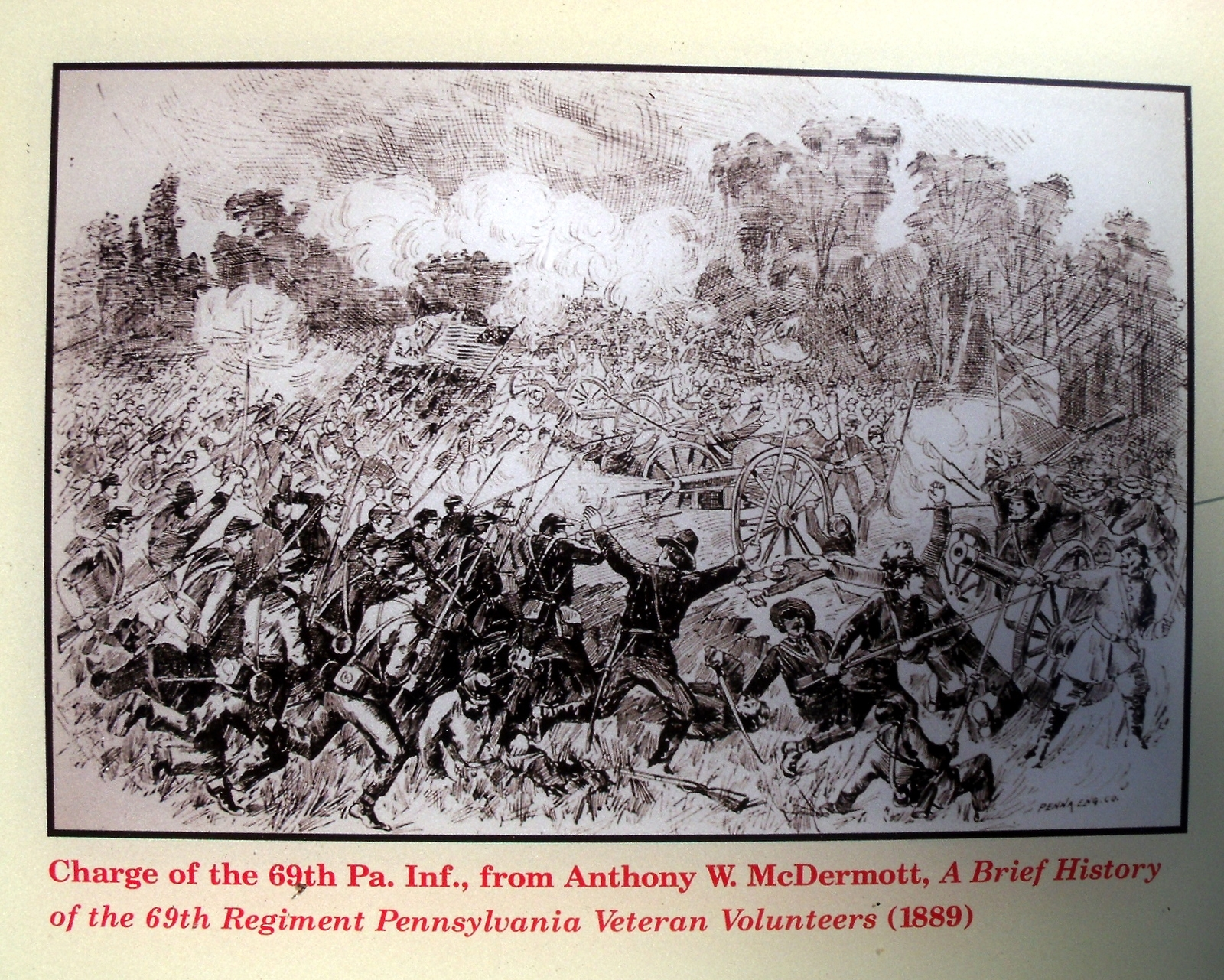 Charge of the 69th Pennsylvania Infantry