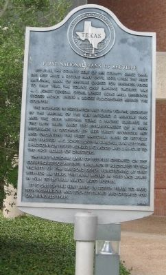 First National Bank of Beeville Marker image. Click for full size.