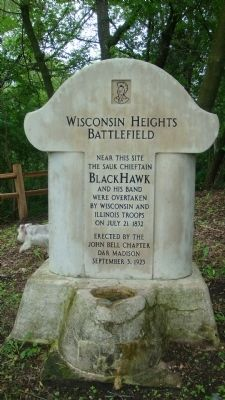 Wisconsin Heights Battlefield Marker image. Click for full size.