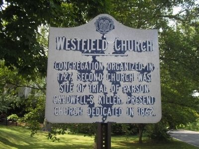 Westfield Church Marker image. Click for full size.
