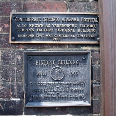 Confederate (Second) Alabama Hospital Marker image. Click for full size.