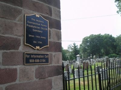 The Historic Connecticut Farms Presbyterian Church Cemetery image. Click for full size.