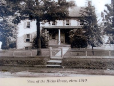 Photo of Hicks House on Marker image. Click for full size.